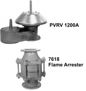 8800A PVRV with Flame Flame Arrester