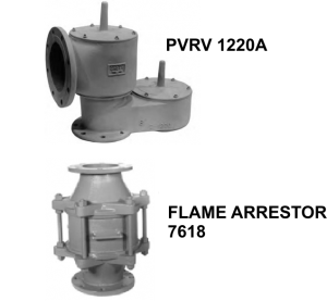 PRESSURE / VACUUM RELIEF VALVE WITH FLAME ARRESTER §PIPE£AWAY