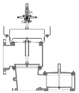 Air Operated Pressure/Vacuum Relief Valve (pipe-away design)
