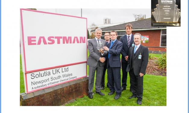 Assentech wins Supplier Excellence Award from Eastman Chemicals