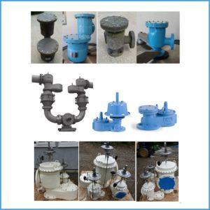 Pressure vacuum relief valves (breather vents) servicing