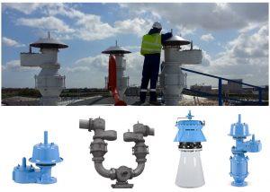 Tank venting storage tank-top valves Breather valves PVRV